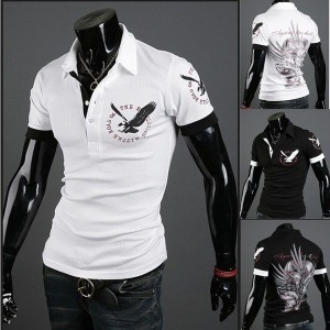 Fashion Mens Cotton Short Sleeves Casual Polo T-Shirt (M/L/XL/XXL)