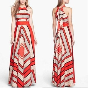 Fashion Women Summer Long Dress Printed Off the Shoulder Bow Maxi Dresses 0.2