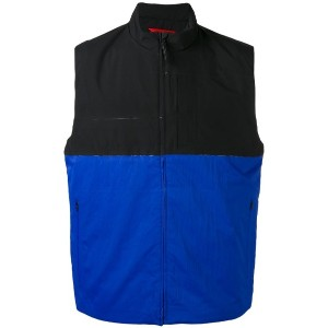 The North Face - colour block zipped waistcoat - men - ポリエステル - L
