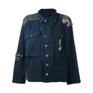 Lédition - embellished military jacket - women - コットン - M