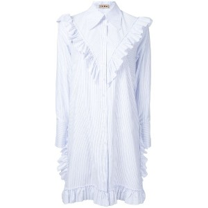 Flow The Label - ruffled detail shirt dress - women - コットン/ポリエステル - M