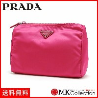 プラダ ポーチ コスメポーチ 小物入れ PRADA ロゴ FUXIA/フューシャピンク 1NA011-ZMX-F0029 【当店全品送料無料♪】