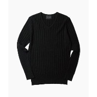 LOUNGE LIZARD (ラウンジリザード) TENCOOL KNIT PULLOVER (M, BLACK)