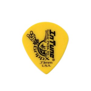 In Tune Guitar Picks DGP4-C73 GrippX-XJJ 0.73mm Yellow ピック×12枚