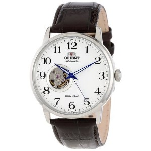 オリエント Orient Men's FDB08005W Esteem Stainless Steel Watch with Brown Leather Band 男性 メンズ 腕時計 【並行輸入品】