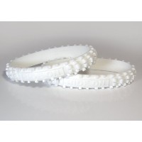 RIDE ON Wristbands (Knobby Bands)White リストバンド