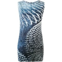 Pleats Please By Issey Miyake - slinky print dress - women - ポリエステル - 5