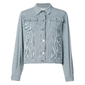 Maison Kitsuné - striped denim jacket - women - コットン - M