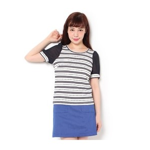 CECIL McBEE(セシルマクビー)透けパフスリーブカットソー312510817【セシルマクビー/CECIL McBEE Tシャツ・カットソー】