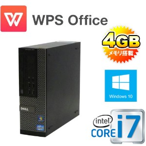 中古パソコン DELL 790SF /Core i7 2600(3.4Ghz) /メモリ4GB /HDD500GB /DVDマルチ /Office_WPS2017 /Windows10 Home...