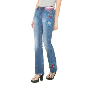 【SALE 29%OFF】デシグアル Desigual DENIM_ETHNIC FLARE (DENIM MEDIUM WASH)