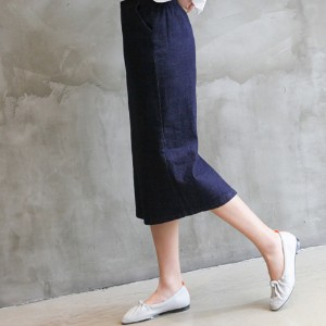 [zoozoom] H long denim skirt 1color / 26568