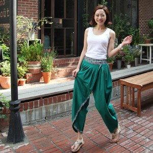 [zoozoom] Wrap volume baggy pants 1color / 16793