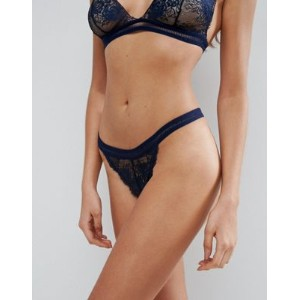 ASOS エイソス Fleur High Apex Eyelash Lace Thong