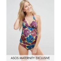 asos maternity mix and match tankini bikini top in mexican floral print プリント ミックス イン タンキニ メキシコ エイソス...
