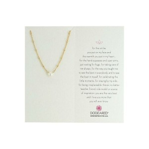 ドギャード Dogeared レディース アクセサリー ネックレス【Inspiration Pearl on Sparkle Chain Necklace】Gold Dipped