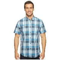 スパイダー メンズ トップス 半袖シャツ【Crucial Short Sleeve Button Down Shirt】French Blue Plaid