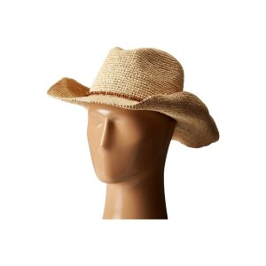 ハットアタック Hat Attack レディース 帽子 ハット【Raffia Crochet Cowboy with Bead Trim】Natural/Wood