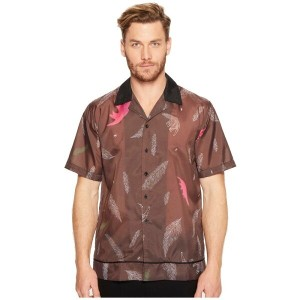 D BY D DBYD メンズ トップス カジュアルシャツ【Printed Bowling Shirt】Brown
