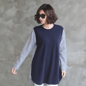 [zoozoom] Stripe coloring blouse 2color / 25701