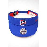 (ミッチェルアンドネス)MITCHELL&NESS BROOKLYN AMERICANS SUN VISOR(サンバイザー) blue×red