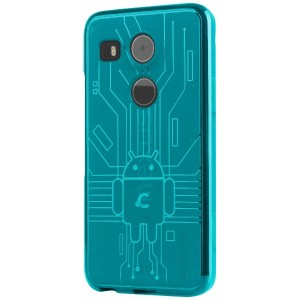 Cruzerlite TPU ケース Bugdroid Circuit Case for Nexus 5X (ティール) N52015-Circuit-Teal