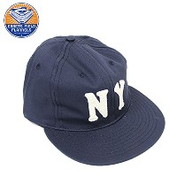 EBBETS FIELD FLANNELS NEW YORK BLACK YANKEES 1936 6PANEL COTTON TWILL CAP - NAVY エベッツ キャップ フリーサイズ NY