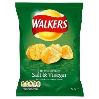 Walkers Crisps - Salt & Vinegar (32.5g) by Groceries [並行輸入品]