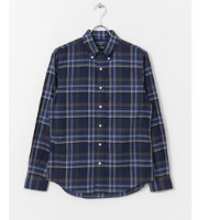 DOORS GYMPHLEX MADRAS CHECK LONG-SLEEVE SHIRTS【アーバンリサーチ/URBAN RESEARCH メンズ シャツ・ブラウス NVY×KHK ルミネ...