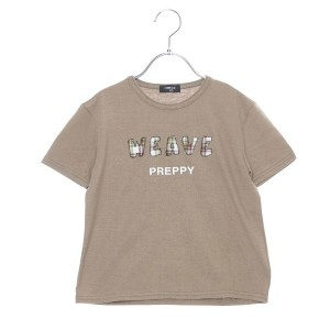【SALE 10%OFF】コムサイズム COMME CA ISM チェックワッペンTシャツ (カーキ)