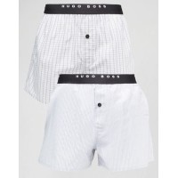 【送料無料】BOSS By Hugo Boss 2 Pack Woven Boxers
