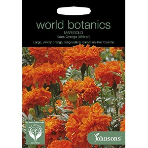 WB 英国ジョンソンズシード Johnsons Seeds world botanics collection Marigold (African) Kees Orange マリーゴールド...