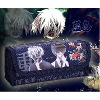 Tokyo Ghouls Student s Canvas Pen Bag Pencil Case Cosmetic Travel Makeup Bags