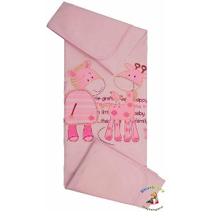 """BlueberryShop 100% Cotton Summer Collection Blanket For Baby Toddler 90 cm x 80 cm (35.5"""" x 31.5"""") ..."""
