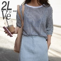 2lve(twelve) High Quality Stripe Tee