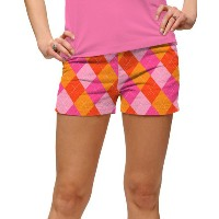 LoudMouth Ladies Raspberry Surebet Mini Shorts【ゴルフ レディース>パンツ】