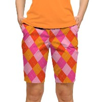 LoudMouth Ladies Raspberry Surebet Bermuda Pants【ゴルフ レディース>パンツ】