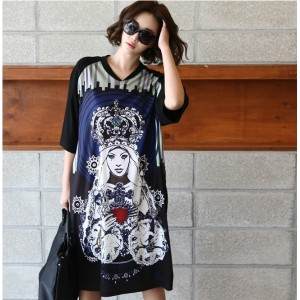 [zoozoom] Queen print coloring dress 1color / 26156