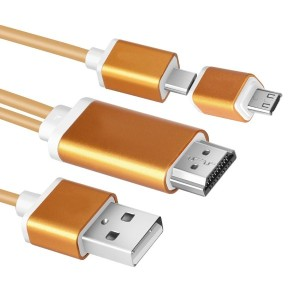 aceyoon MHL ケーブル 1080P 高解像度 Micro USB to HDMI 変換 アダプタ Android Mobile High-Definition Link機能付き...