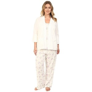 【ポイント2倍!6/22 1:59まで】Carole Hochman Plus Size Three-Piece Pajama Set