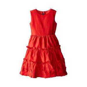 Oscar de la Renta Childrenswear Taffeta Multi Ruffle Dress (Toddler/Little Kids/Big Kids)