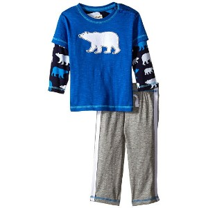 【ポイント2倍!6/22 1:59まで】Hatley Kids Tee & Track Pants Set - Classic Polar Bears (Infant)