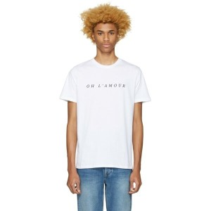 アーペーセー A.P.C. メンズ トップス Tシャツ【White 'Oh l'Amour' T-Shirt】