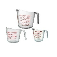 Anchor Hocking 92032L113 Pc Open Handle Measuring Cup