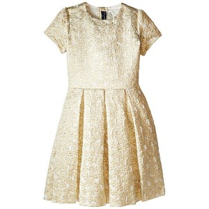 Oscar de la Renta Childrenswear Jacquard Party Dress (Toddler/Little Kids/Big Kids)