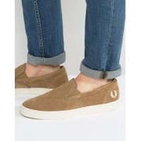 Fred Perry Underspin Slipon Suede Trainers