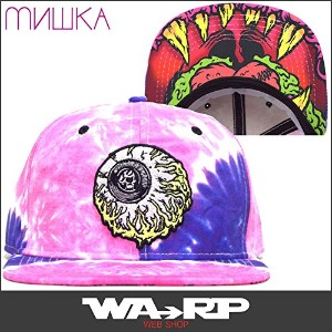 ミシカ MISHKA LAMOUR KEEP WATCH TIE DYE SNAPBACK(PINK PURPLE)