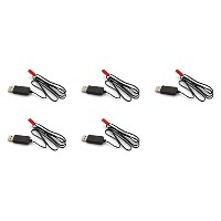 5 x Quantity of Helicopter Quadcopter Airplane ボート Car Controller JST 3.7V Li-Po バッテリー Charger USB...