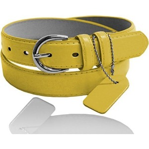 [アメリカ直送] [ベルト] Eurofashion Women s Premium Leather Skinny Belt-