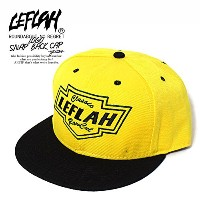 (レフラー)LEFLAH LOGO SNAP BACK CAP -YELLOW- FREE